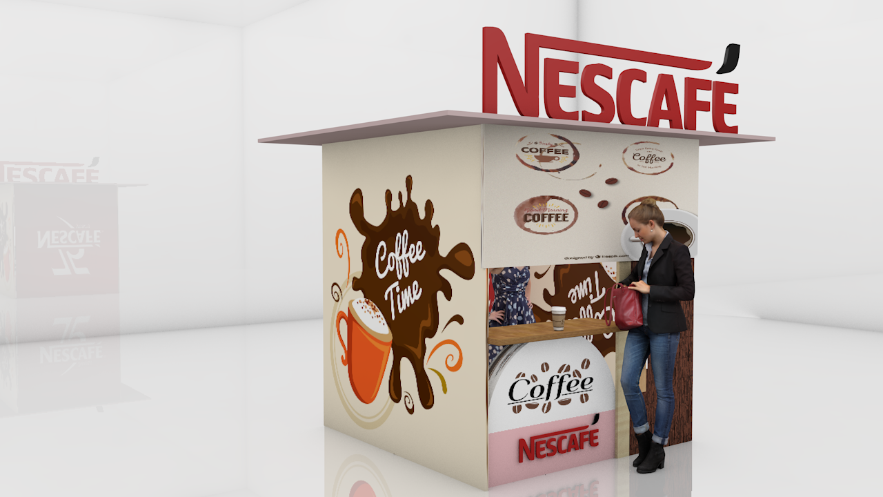 Nescafe Gratis Modelo 3D in Bebida 3DExport