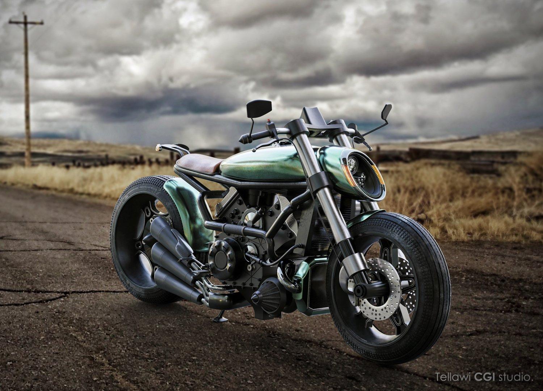 Ducati motorcycle cafe racer 3D Model in Motorcycle 3DExport