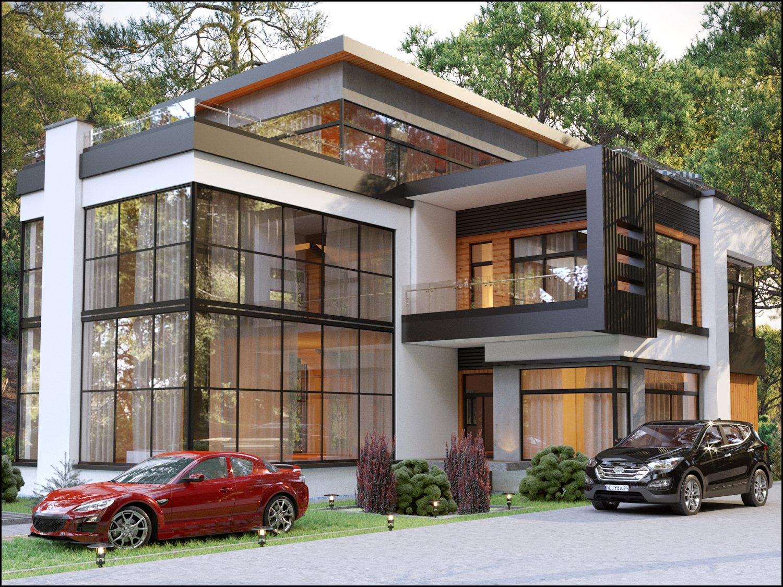 Modern Exterior Villa 3D Model in Buildings 3DExport