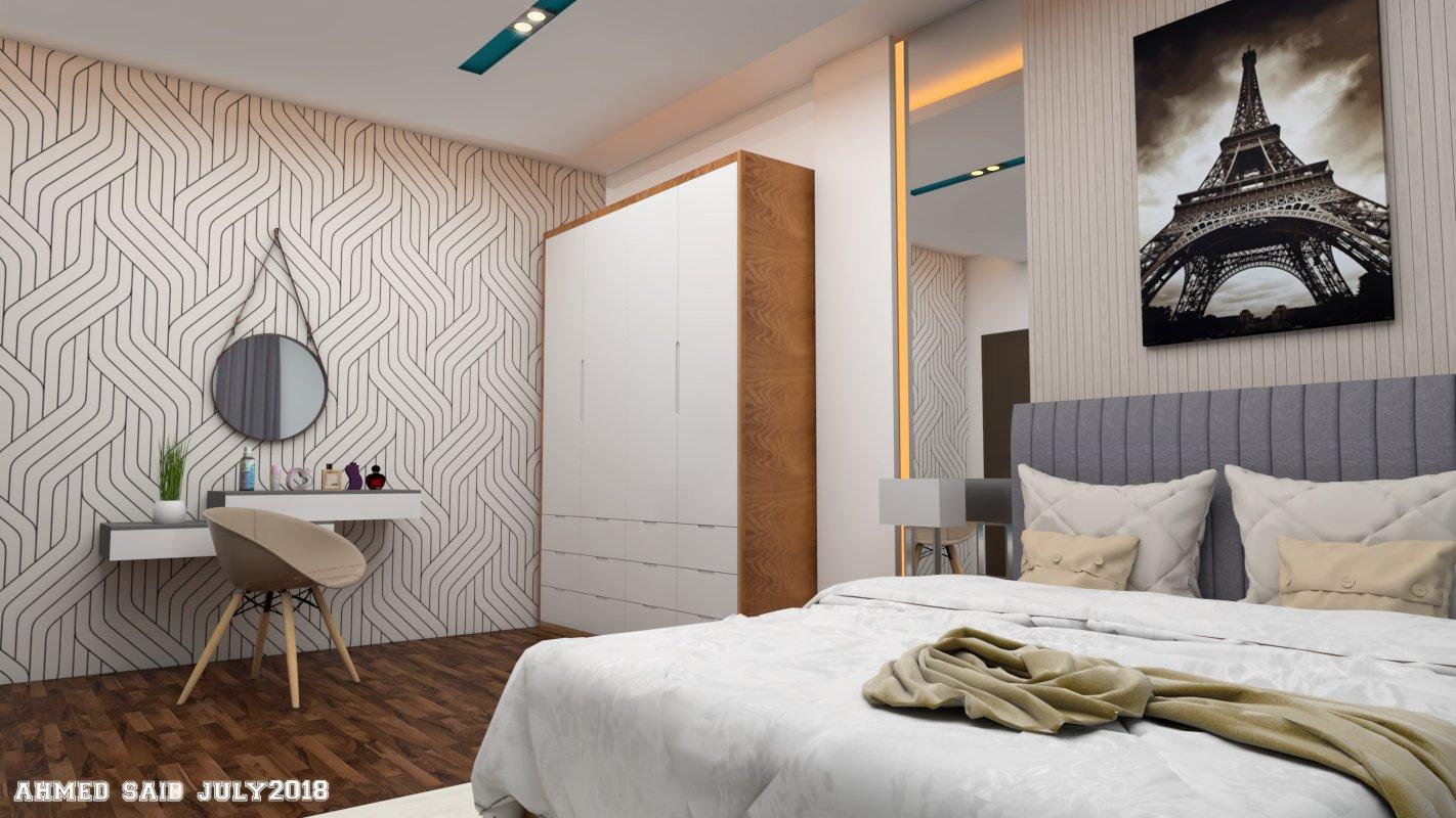 Modern bedroom 3d scene 3d model in bedroom 3dexport