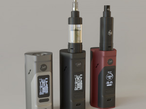 vape 3D Models - Download 3D vape Available formats: c4d, max, obj