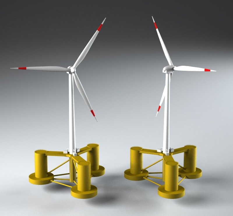 Wind turbine 3d Model 3D in Bomber 3DExport