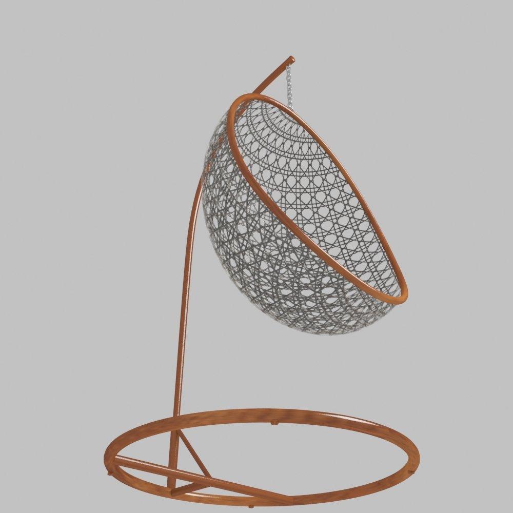 Hanging Swing 3D Model in Chair 3DExport