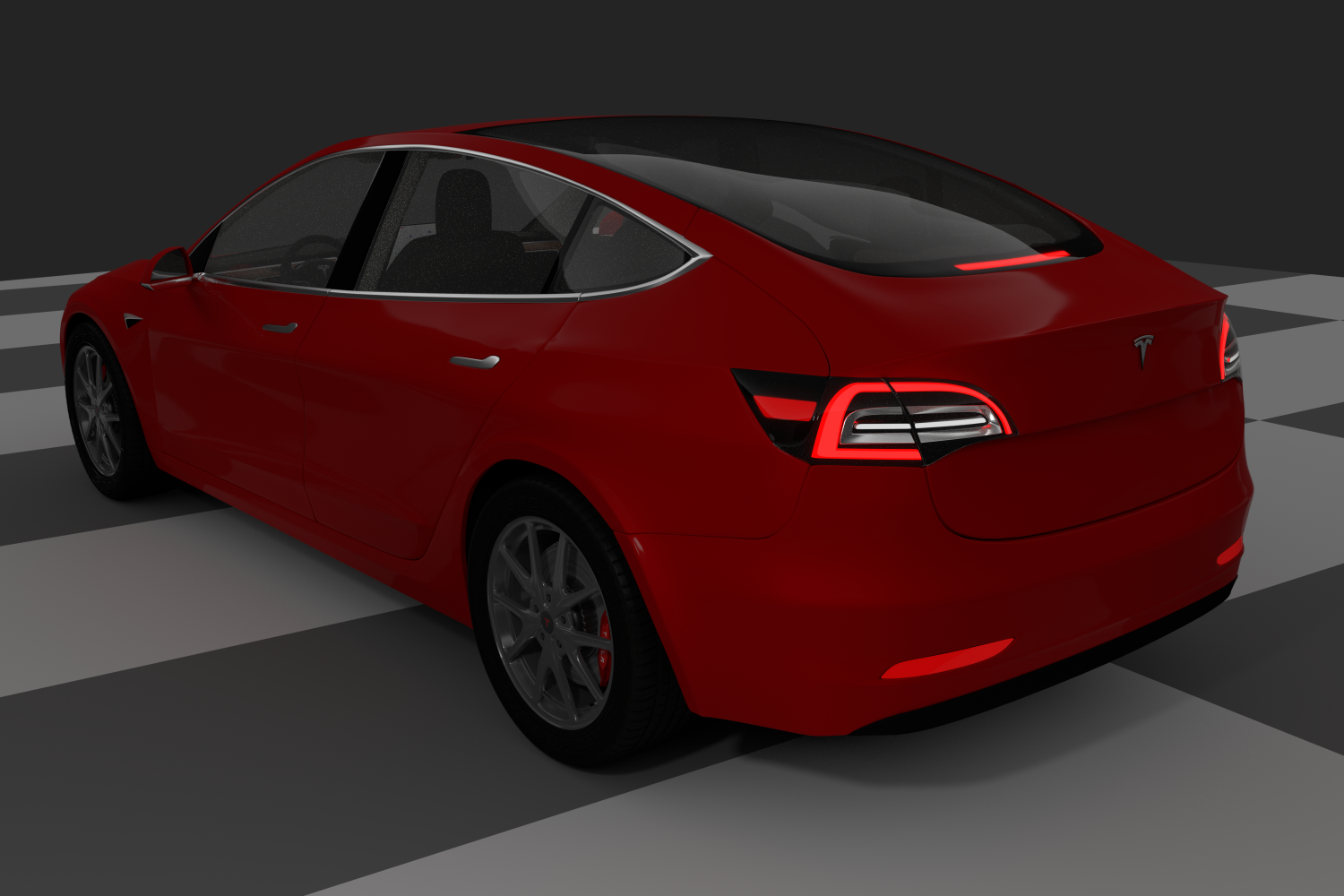 Tesla Model 3 - 2018 - detailed interior - Blender 3D ...