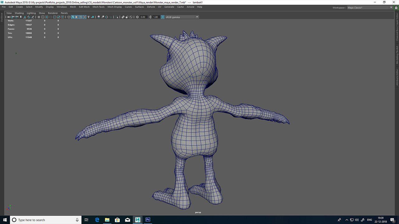 Cartoon monster vol1 3D Model in Monster 3DExport