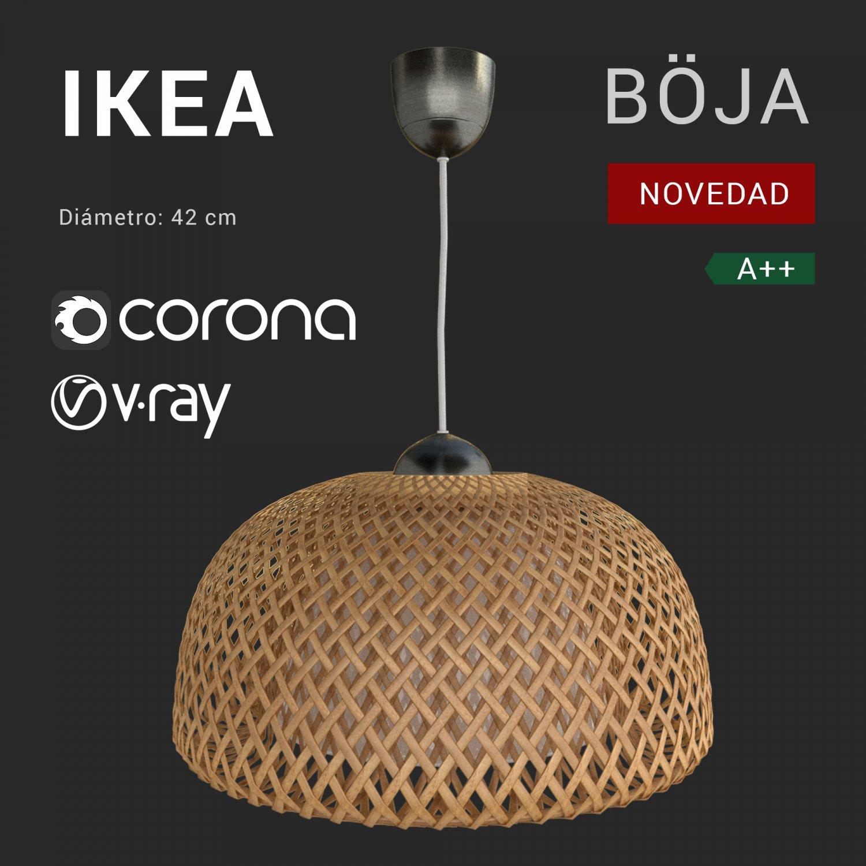 De Lamp Modelo Lámpara Ikea 3d 2018 Boja 3dexport Techo In AjL5R34