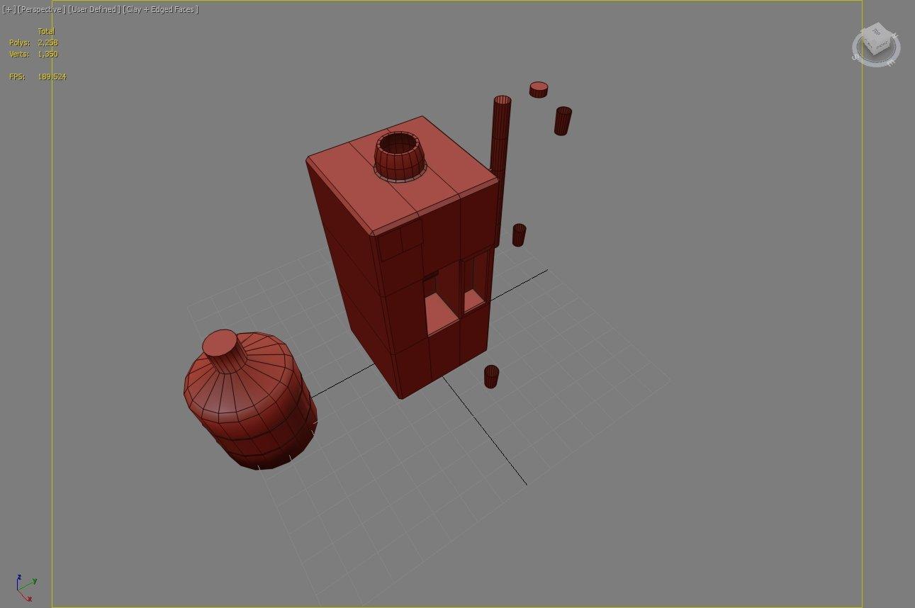 Water Cooler 3D Model in Beverage 3DExport