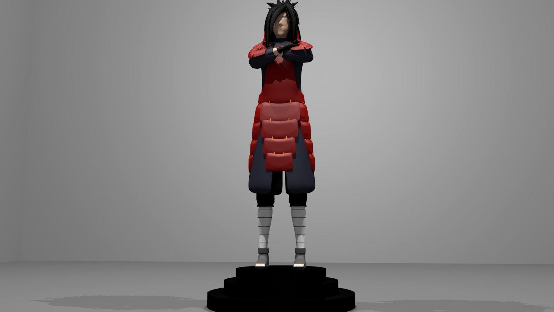 Madara Uchiha Character 3D Model in Man 3DExport