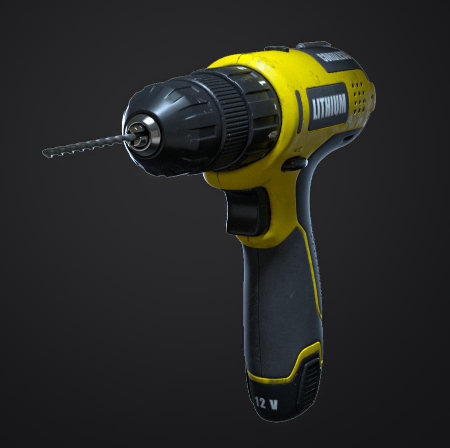 Cordless Drill Free 3D Model in Tools 3DExport