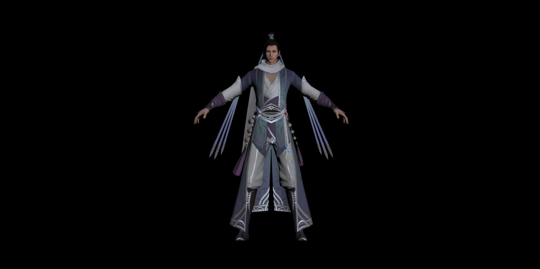 Moonlight blade online Fashion -tyhgnan Free 3D Model in Man 3DExport