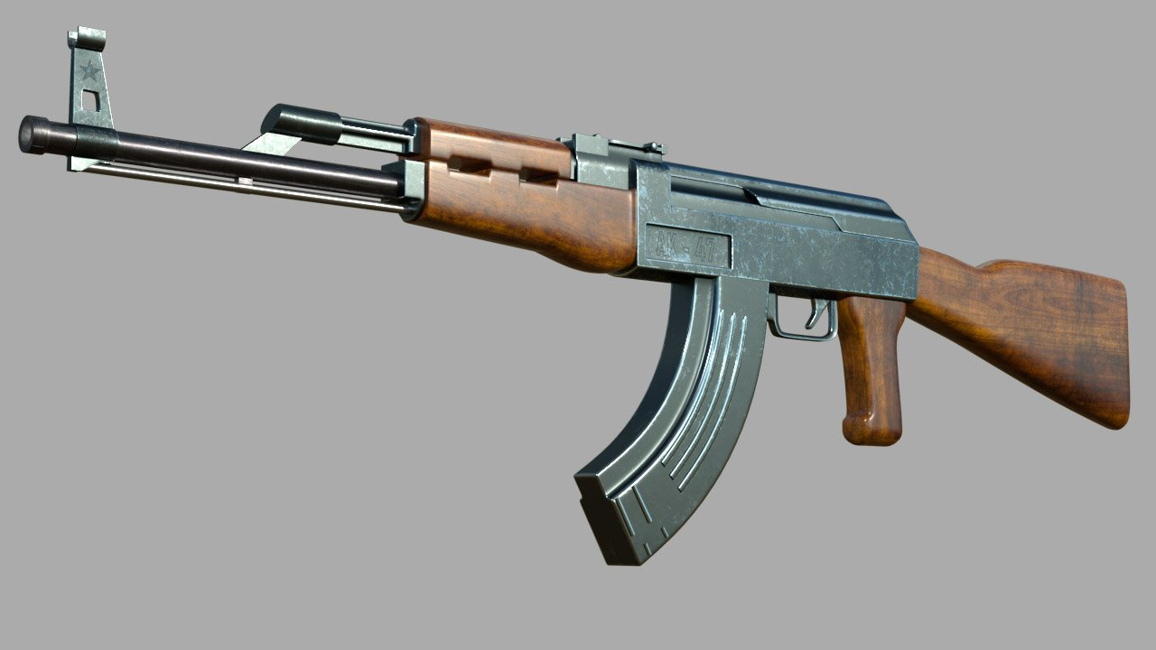 AK 47 AK47 3D Model in Machine Gun 3DExport
