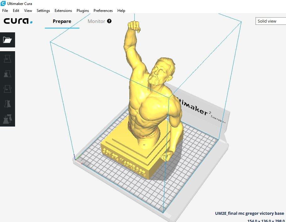 Conor McGregor Victory sculpture 3D print ready STL file 3D Model in Man  3DExport