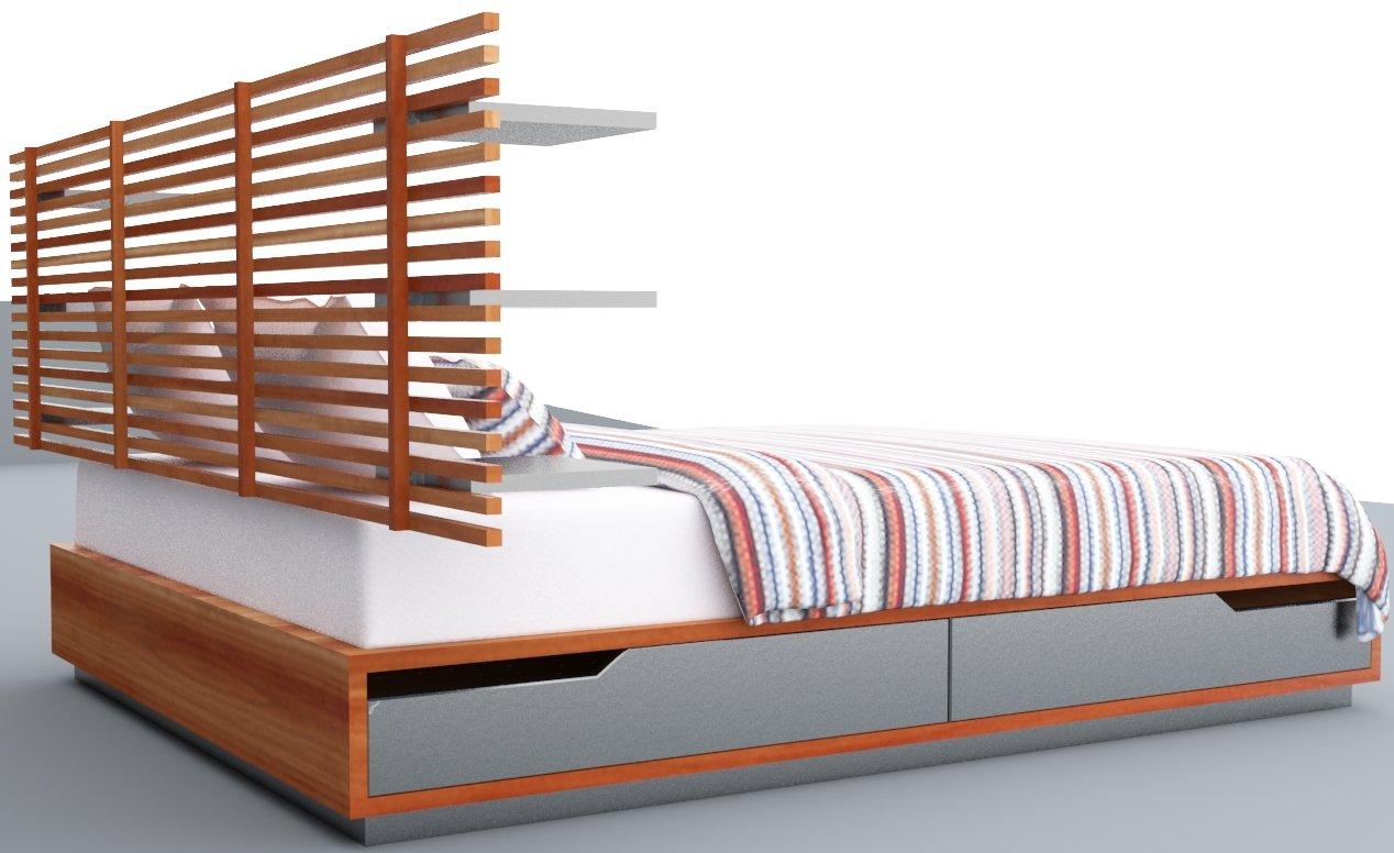 Ikea Mandal Bed Vr Ar Low Poly Count Low Poly 3d Model In Bedroom 3dexport