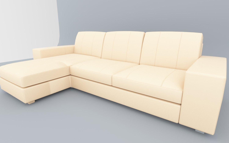 Leather Sofa Kivik IKEA Low-poly 3D Model in Sofa 3DExport