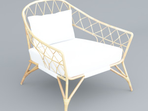 Storsele Ikea chair rattan bamboo black Modèle 3D in Chaise