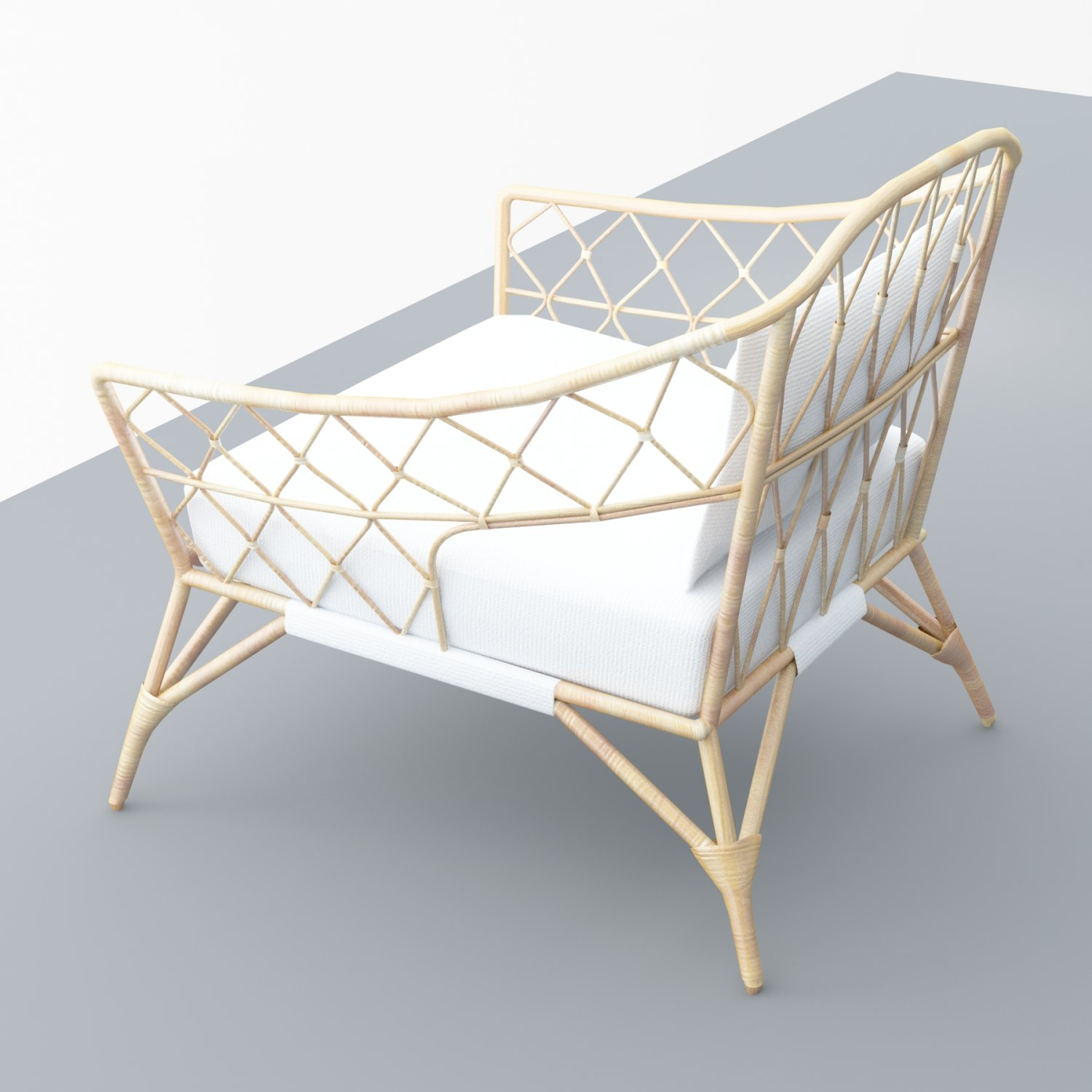 Stockholm Ikea Rattan Chair Low Poly 3d Model In Chair 3dexport & rattan blog: ikea stockholm rattan chair