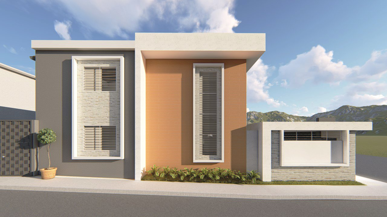 Minimalist House only Sketchup 2017 renders in lumion 8 3D Model in  Buildings 3DExport