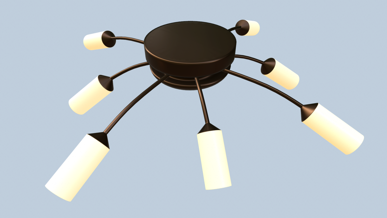 Chandelier 3D Model in Living Room 3DExport
