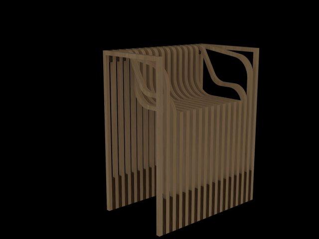 SERIAL PLANES WOODEN CHAIR Modèle 3D in Chaise 3DExport