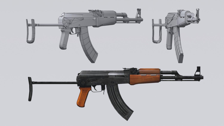 AKM assault rifle - 3D AK 47 Low-poly model 3D Model in Assault Rifles  3DExport