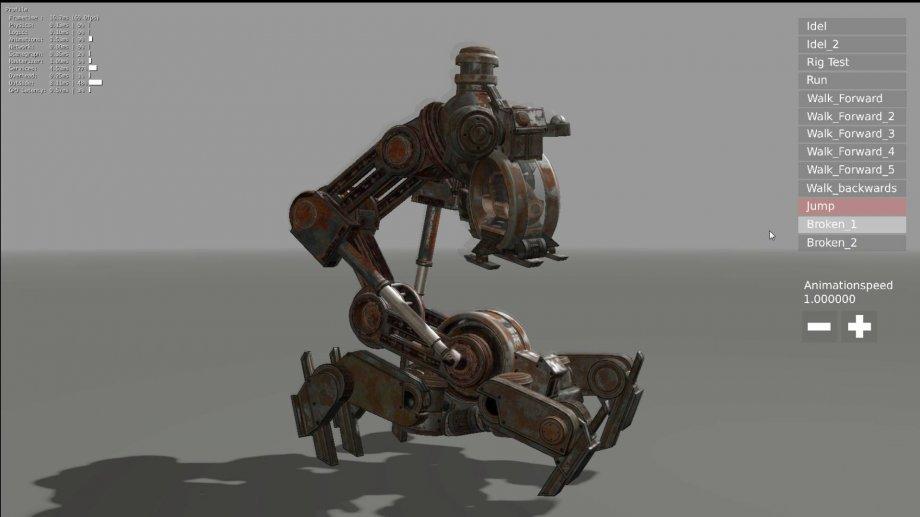 Mech Neck Walker - Blender Game Engine And Unity 3D 3D Model in Other  3DExport