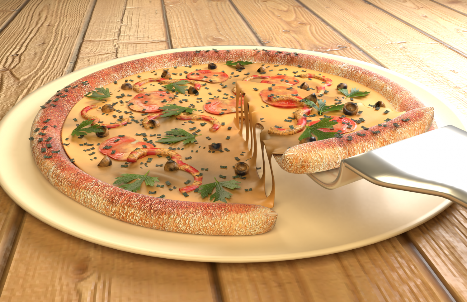 Free Pizza Free 3d Model In Miscellaneous 3dexport