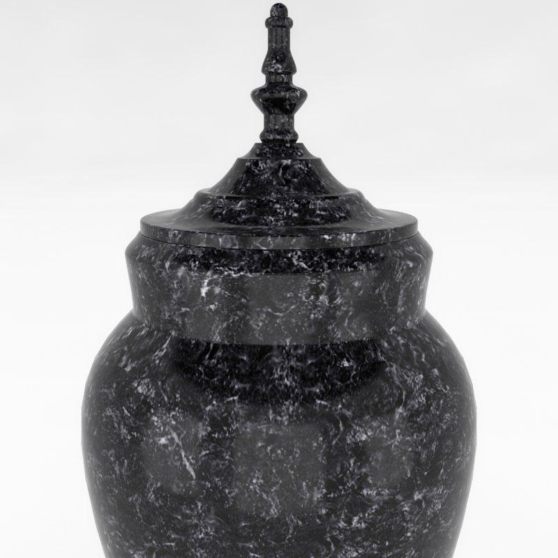 HD Cremation Urn I 3D Model in Shelving 3DExport