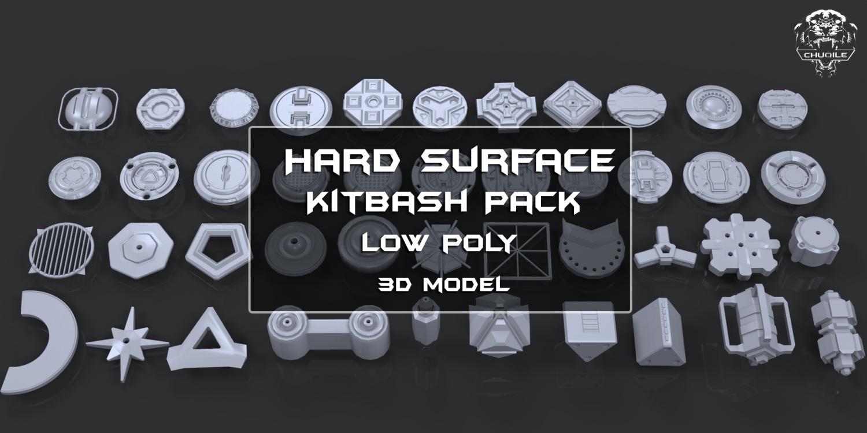 Hard Surface - KitBash 3D Model in Parts 3DExport