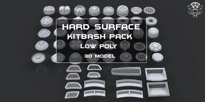 Hard Surface - KitBash Pack 3D Model in Parts 3DExport