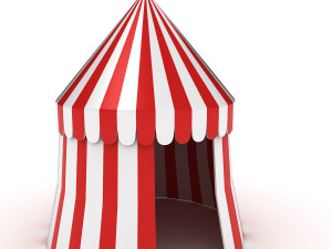 free circus tent 3d model 3D Models Download Available