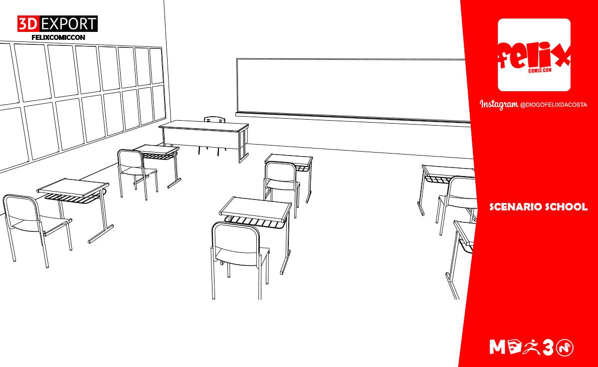 Scenario School Modele 3d In Fantasme 3dexport