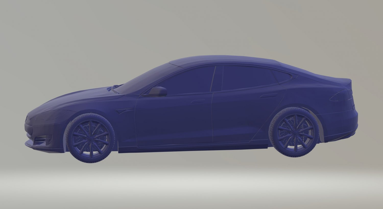 TESLA MODEL S 3D MODEL CAR CUSTOM 3D PRINTING STL FILE ...