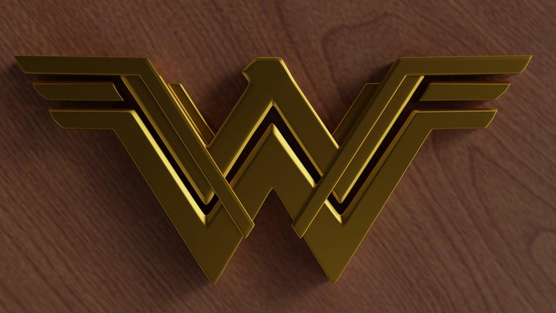 Wonder Woman logo 3d model