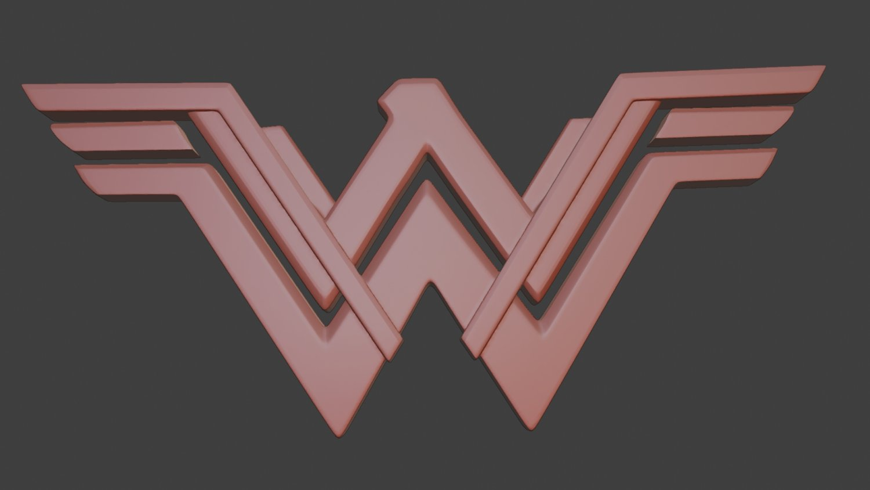 member of Justice League logo 3d model
