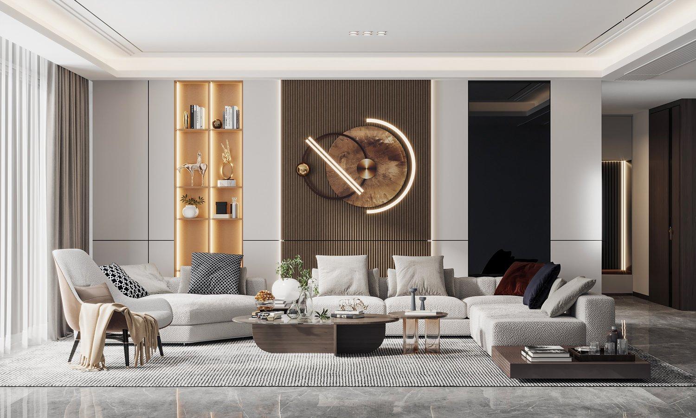 Modern living room 20D Modell in Wohnzimmer 20DExport