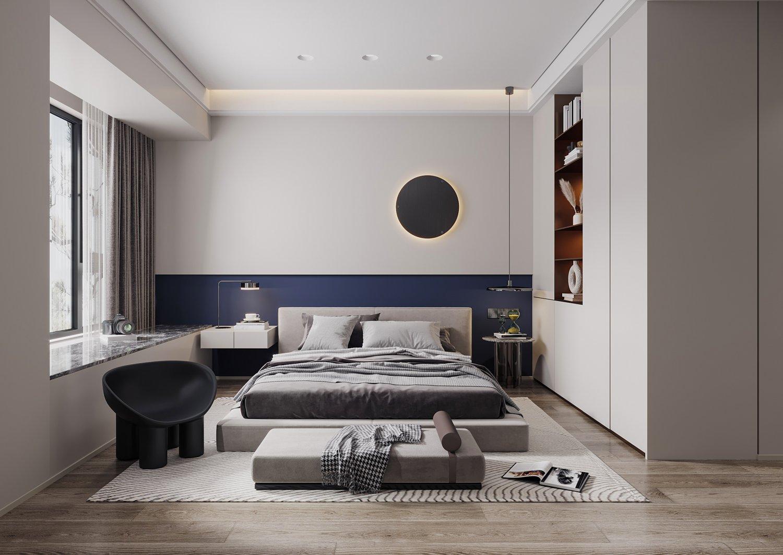 Modern bedroom 20D Modell in Schlafzimmer 20DExport