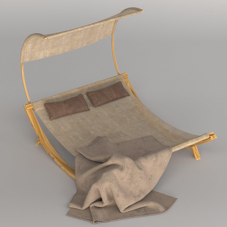 - Maura Double Chaise Lounge With Cushion Kostenlose 3D-Modell In  Außengegenstände 3DExport