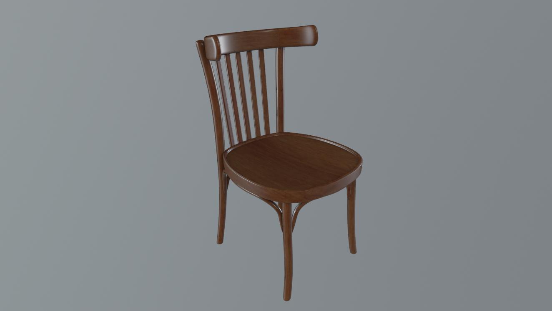 Old Wood Chair Free 3d Model In Kitchen 3dexport