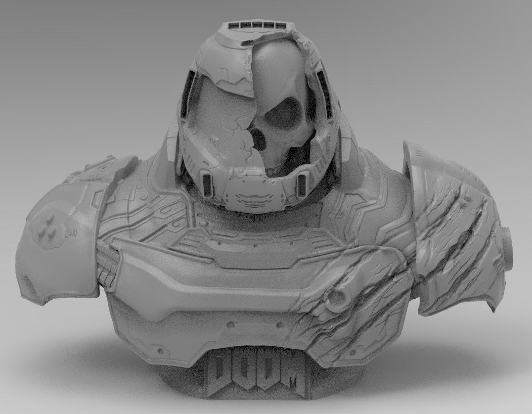 Doom Slayer 3d Model In Figurines 3dexport